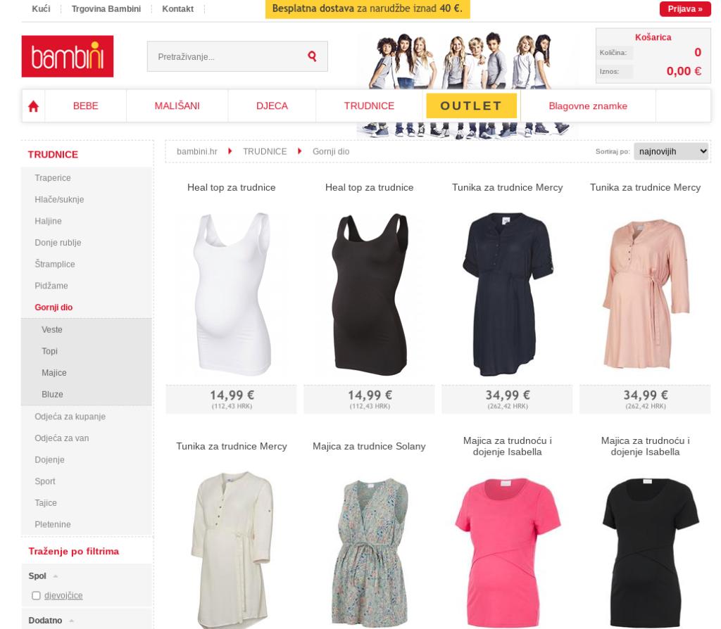 slovenska spletna trgovina na hrvaškem