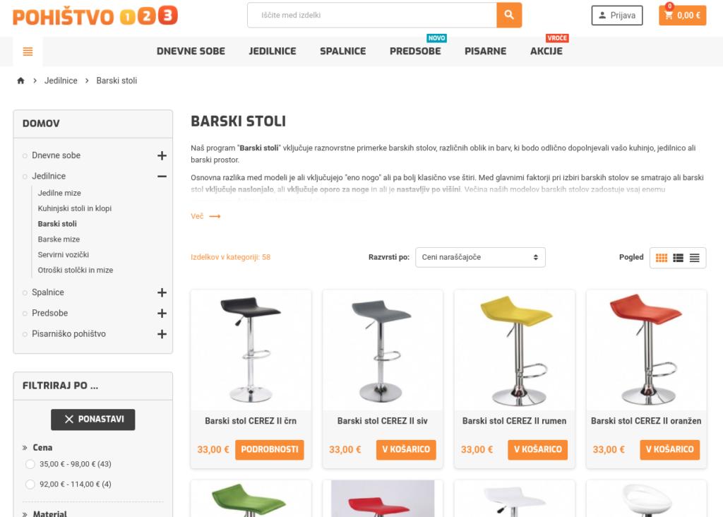 slovenska spletna trgovina pohistvo
