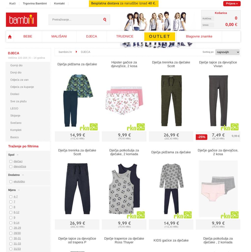 prodajni lijak tretja faza primer dječja odjeća